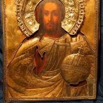 Икона Спасителя в серебряном кованом окладе. 1845, в Санкт-Петербурге