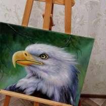 Белый орел, 50х60см, Картина маслом на холсте, в Москве