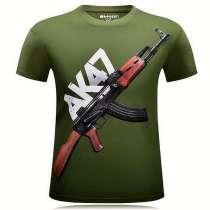 Новая 3D футболка ак47 6XL, в Брянске