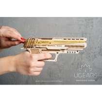 Конструктор 3D-пазл Ugears Пистолет Вольф-01 62 деталей, в г.Алматы