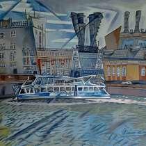 Картина Москва - река(графика), в Саратове