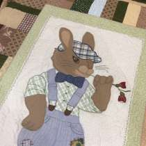 Лоскутное одеяло-покрывало «Мальчик-зайчик», в Омске
