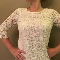 Новая блузка кружевная белая (цвет - слоновая кость) р.50-52, в Москве