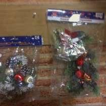 Корзиночка и Ветка сосны с колокольчиками Новогодние декорат, в Владимире