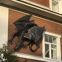 Дракон на стене - скульптура, в Краснодаре