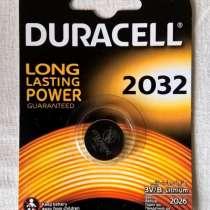 Батарейки Duracell 2032, кнопочного типа, в Новосибирске