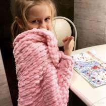 Плед детский из пряжи Alize puffy 90/60 см, в Калининграде
