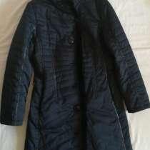 Пальто Liloti тёмно-синее с норкой, р-46(48), в Новосибирске