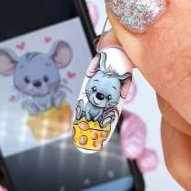 "NailArt картина миниатюра ""Mouse on cheese"", в г.Нью-Йорк"