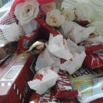 БУКЕТЫ из сладостей с розами, в Комсомольске-на-Амуре