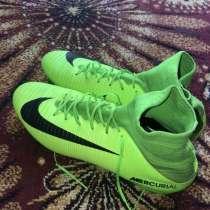 Бутсы с носком зелёные Nike mercurial, в Сергиевом Посаде