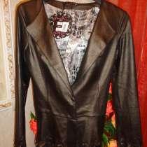 Пиджак под кожу р 44-46, в Гатчине
