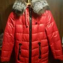 Пуховик зимний, красный, в Москве