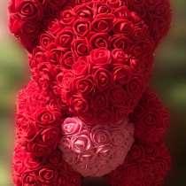 Мишка из фоамирановых роз, в Электроуглях