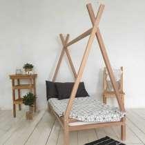 Детская кровать домик, из массива сосны/ березы/ бука, в Екатеринбурге
