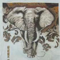 """Вышитая картина """" Африканский слон"""", в г.Харьков"""