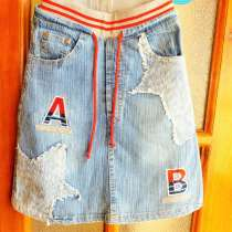 Красивая, яркая джинсовая юбка, в Краснодаре