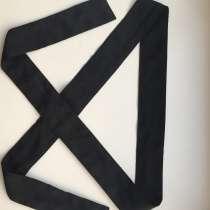 Пояс лента ткань черная аксессуар на волосы голову ремень 12, в Москве