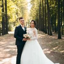 Свадебное платье) размер 42-44(корсет) ажурное ✨ с рукавами, в Воронеже