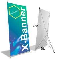 Х-баннеры, x-banner (рекламные пауки) 60х160см оптом, в г.Алматы