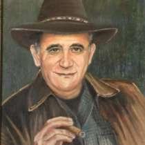 Портрет по фото. Роспись стен, в Омске