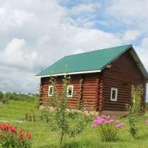 Продаю новый двухэтажныйэтажный деревянный дом ручной рубки, в Угличе
