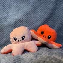 Плюшевая мягкая игрушка осьминог перевертыш, в Москве