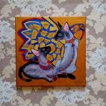 Картина Кошки (живопись акрил), в Москве