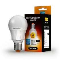 Светодиодная лампа (LED) Videx PremiumA60 13W E27 3000K 220V, в г.Чугуев
