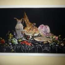 Картина ручной работы вышитая по технике гладь, в Уфе