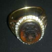 Кольцо золотое антикварное, в Москве