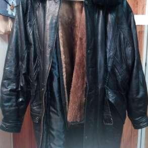 Мужская Куртка кожаная, утеплённая, (удлинённая) - (новая), в Белгороде
