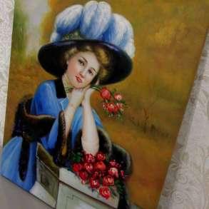 В думах о тебе, 50х60см, Картина маслом на холсте, в Москве