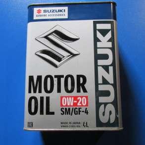 """Масло моторное синтетическое """"Motor Oil SM 0W-20"""" Suzuki, в Омске"""