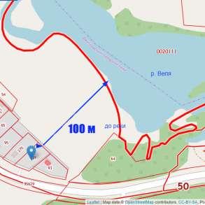 100 м от реки Земельный участок, в Москве