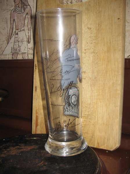 Пивные стаканы Старый мельник-ВРАТАРЬ. Футбол кубок 2004г в Москве фото 3