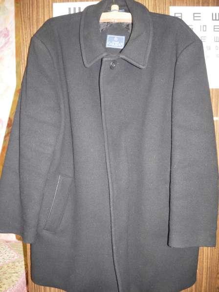 Полупальто черное зимнее мужское размер 54