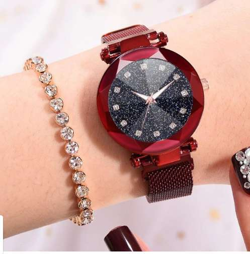 Часы женские Starry Sky Watch c магнитным ремешком водонепр в фото 5