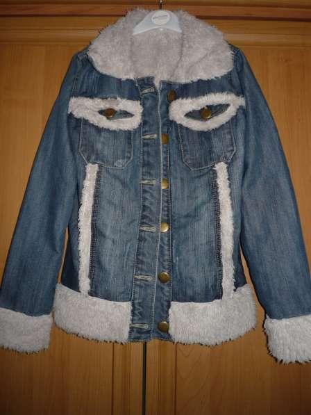 Джинсовая куртка на искусственном меху