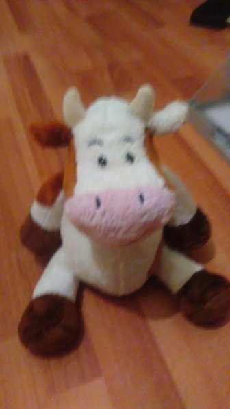 Игрушка меховая-корова