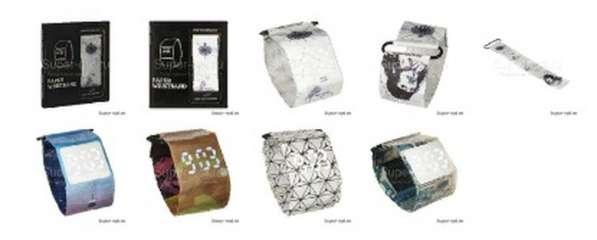 Бумажные часы Paper Watch Wristband в розницу и оптом в Москве