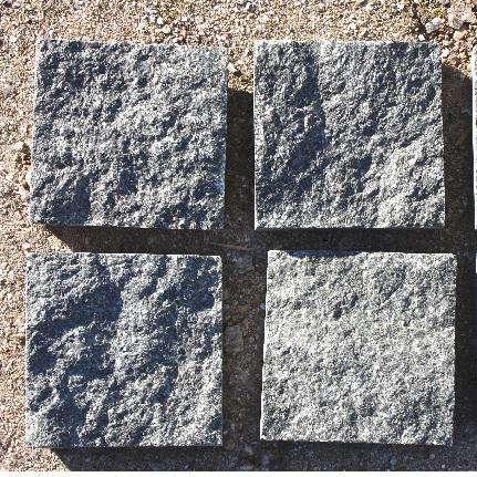 Тротуарная плита из гранита от производителя пилено-колотая