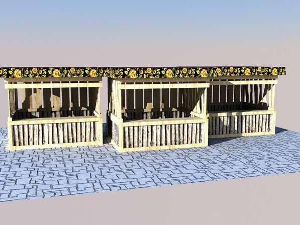 Изготавливаем деревянные ярмарочные домики в Ростове-на-Дону фото 9