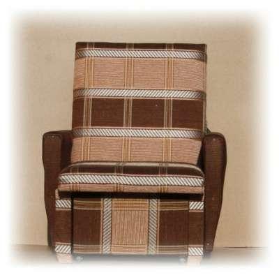 Кресло-кровать в коричневую клетку 60 см