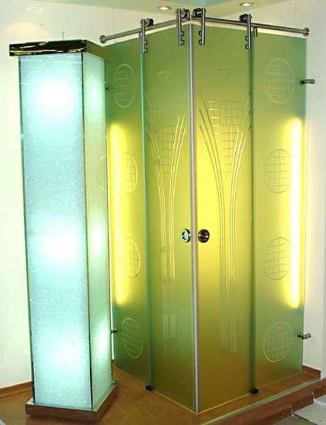 Перегородки и двери из алюминиевого профиля в Казани фото 3