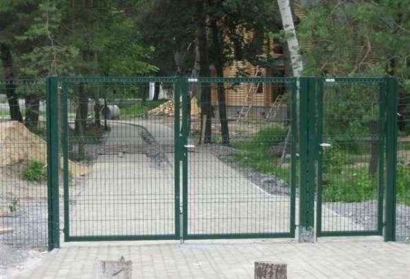 Распашные ворота 3Д сетка 1.53мx4м Выбор цвета RAL