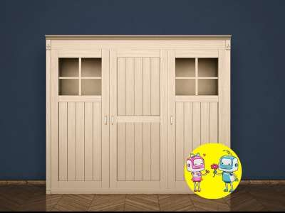 Шкаф 3х дверный Британия из натурального