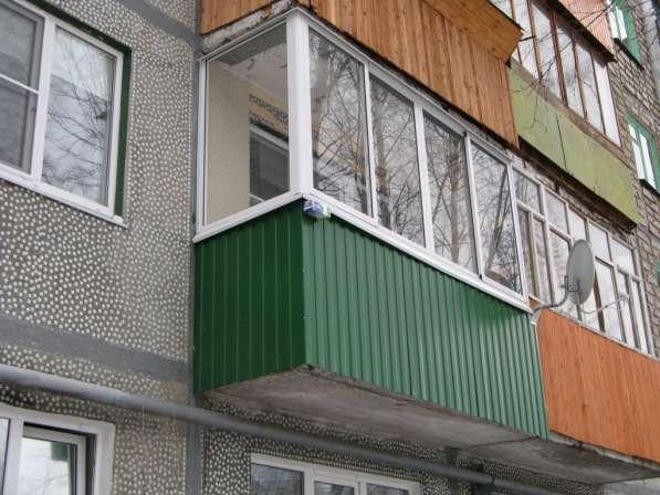 Окна из алюминия для балкона в хрущевке в железнодорожном.