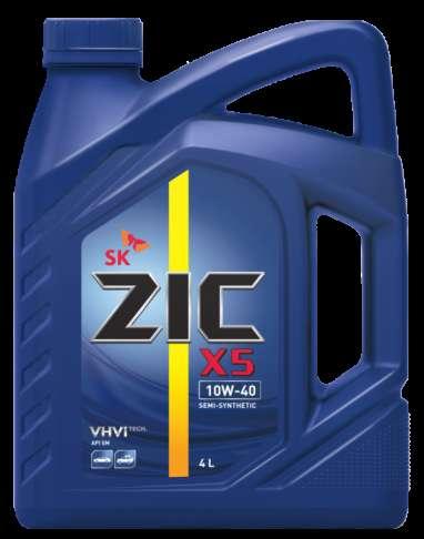 Масло ZIC X5 10W40 SM полусинтетическое 4 литра