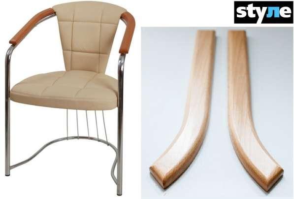 Буковые подлокотники для стул-кресла